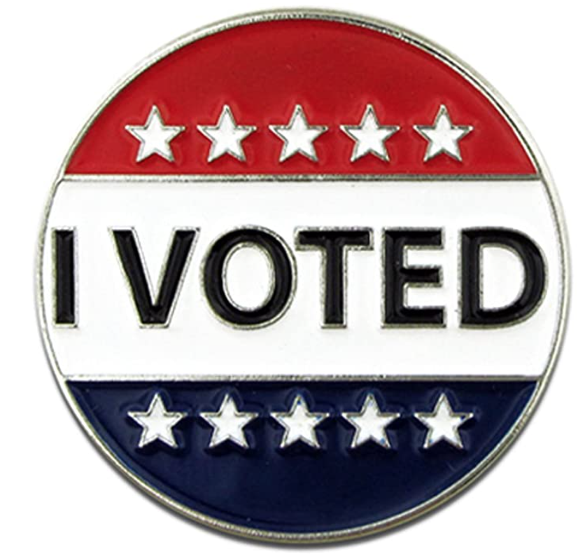 PinMart I Voted Election Political Patriotic Lapel Pin (Photo: Amazon)