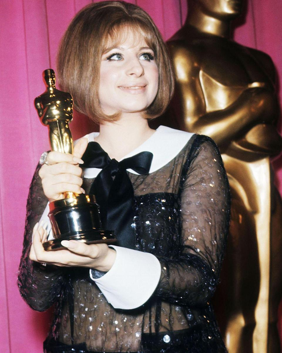 """<p>Both actresses received exactly 3,030 votes<span class=""""redactor-invisible-space"""">, <a href=""""http://www.history.com/this-day-in-history/katharine-hepburn-and-barbra-streisand-tie-for-best-actress-oscar"""" rel=""""nofollow noopener"""" target=""""_blank"""" data-ylk=""""slk:making it a dead tie"""" class=""""link rapid-noclick-resp"""">making it a dead tie</a>. Hepburn won for her role Eleanor of Aquitaine in <em><a href=""""https://www.amazon.com/dp/B0030MOEBG?ref=sr_1_1_acs_kn_imdb_pa_dp&qid=1547582550&sr=1-1-acs&autoplay=0&tag=syn-yahoo-20&ascsubtag=%5Bartid%7C10055.g.5148%5Bsrc%7Cyahoo-us"""" rel=""""nofollow noopener"""" target=""""_blank"""" data-ylk=""""slk:The Lion in Winter"""" class=""""link rapid-noclick-resp"""">The Lion in Winter</a></em><span class=""""redactor-invisible-space"""">, while Streisand won for her debut in <em><a href=""""https://www.amazon.com/Funny-Girl-Barbra-Streisand/dp/B005148YDA/ref=sr_1_2?s=instant-video&ie=UTF8&qid=1547582565&sr=1-2&keywords=Funny+Girl&tag=syn-yahoo-20&ascsubtag=%5Bartid%7C10055.g.5148%5Bsrc%7Cyahoo-us"""" rel=""""nofollow noopener"""" target=""""_blank"""" data-ylk=""""slk:Funny Girl"""" class=""""link rapid-noclick-resp"""">Funny Girl</a>. </em><span class=""""redactor-invisible-space"""">But Hepburn didn't attend the ceremony, so there was <a href=""""https://www.youtube.com/watch?v=aO3Gb5mkwTc"""" rel=""""nofollow noopener"""" target=""""_blank"""" data-ylk=""""slk:no one to rain on Streisand's parade"""" class=""""link rapid-noclick-resp"""">no one to rain on Streisand's parade</a> that day. </span></span></span></p>"""