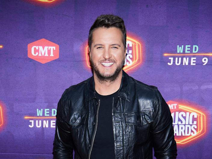 Luke Bryan attends the 2021 CMT Music Awards in Nashville, Tennessee broadcast on June 9, 2021.