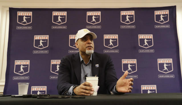 Some players want Tony Clark removed as head of the MLBPA. (AP Photo/Morry Gash)