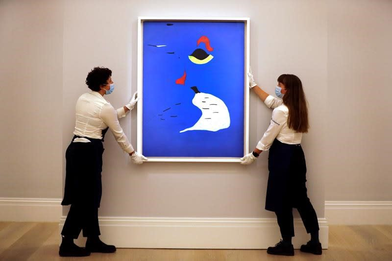 Rembrandt, Miro fetch millions at Sotheby's virtual auction