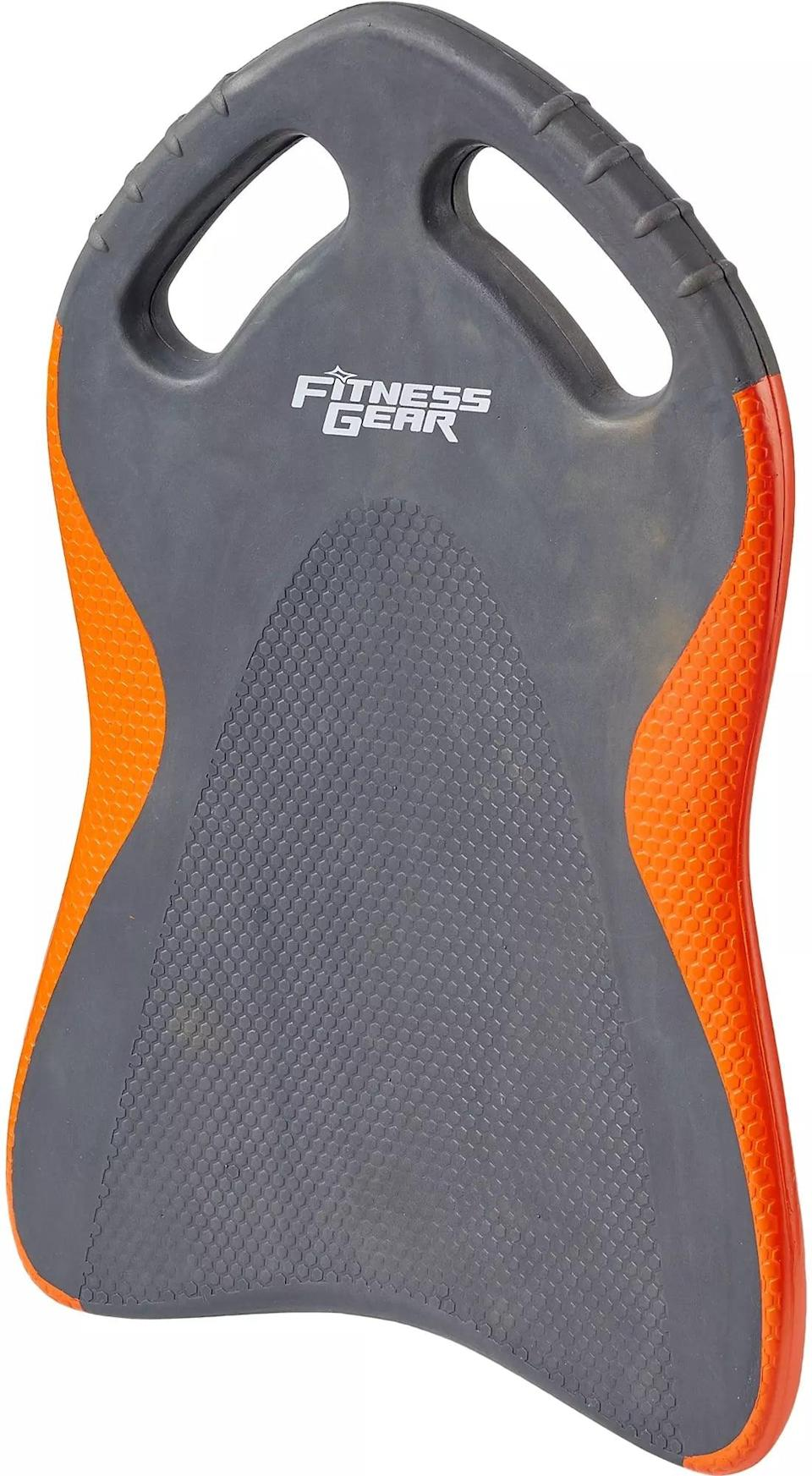 <p>Isolate your leg muscles and kick from one side of the pool to the other with the ergonomically designed <span>Fitness Gear Kickboard</span> ($25), complete with gripped handles.</p>