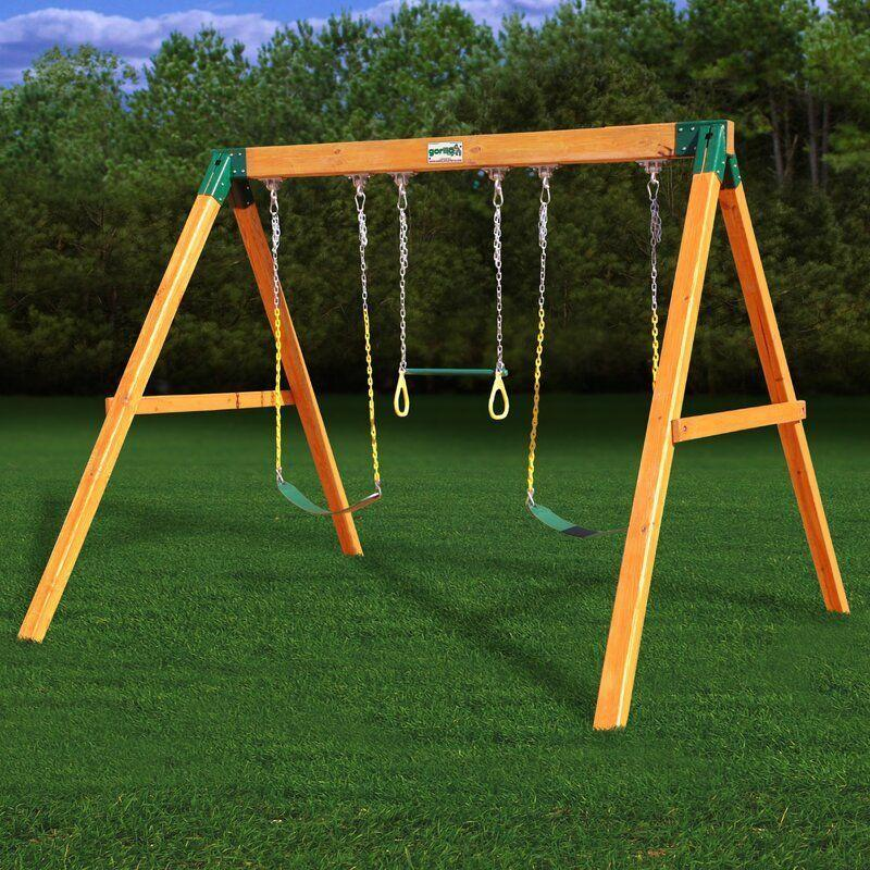 "<p><strong>Gorilla Playsets</strong></p><p>wayfair.com</p><p><strong>$895.30</strong></p><p><a href=""https://go.redirectingat.com?id=74968X1596630&url=https%3A%2F%2Fwww.wayfair.com%2Foutdoor%2Fpdp%2Fgorilla-playsets-free-standing-swing-set-gor1119.html&sref=https%3A%2F%2Fwww.housebeautiful.com%2Flifestyle%2Ffun-at-home%2Fg32107944%2Fbest-swing-sets%2F"" rel=""nofollow noopener"" target=""_blank"" data-ylk=""slk:BUY NOW"" class=""link rapid-noclick-resp"">BUY NOW</a></p><p>If you're looking for a more simple swing set that will look sleek in your backyard and will work even as your kids are in middle school, this is a great option. It includes two swings and trapeze rings and works for kids between ages three and 12. Plus, it has a 4.7 star rating from reviewers. </p>"