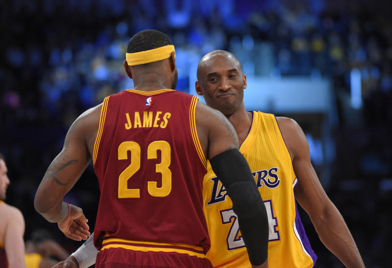 LeBron James and Kobe Bryant were rivals and friends. (AP Photo/Mark J. Terrill)