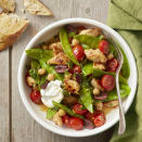 <p>Chock-full of nutrients, snow peas shine in this 20-minute, harissa-sauced, one-pot meal that feeds the whole family. Harissa is a North African hot chile paste--use just a teaspoon if you prefer a mild flavor.</p>
