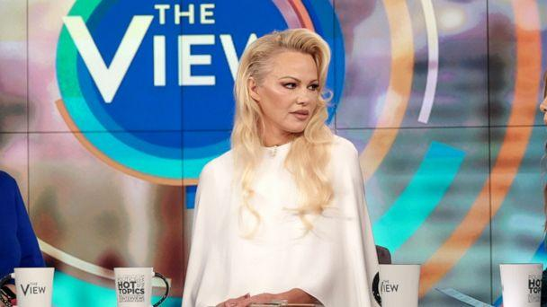 PHOTO: Pamela Anderson speaks out about Julian Assange on 'The View,' Sept. 6, 2019, in her first TV interview since visiting him in May. (Nicolette Cain/ABC)