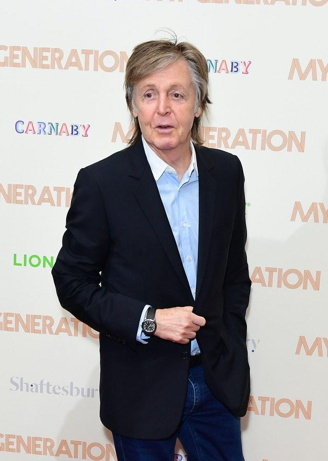 Sir Paul McCartney is also on the show