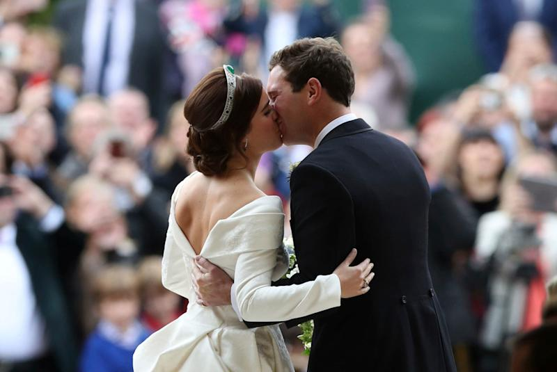 Princess Eugenie and Jack Brooksbank on their wedding day - POOL PA