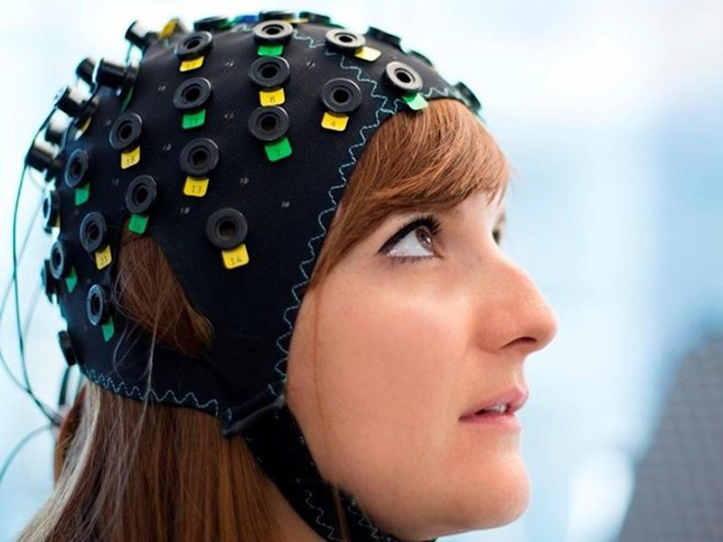 The cap uses infrared light to spot variations in blood flow in different regions of the brain: Wyss Centre