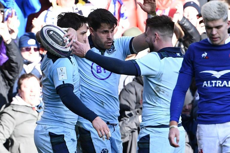 Ruled out - Scotland wing Sean Maitland (C)