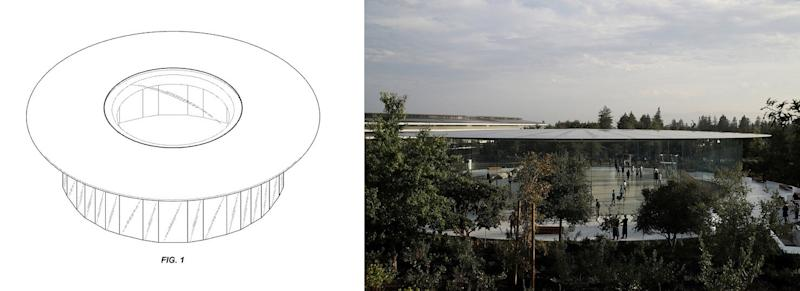 apple has patented the design of steve jobs theater the underground