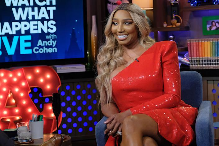 WATCH WHAT HAPPENS LIVE WITH ANDY COHEN -- Episode 17039 -- Pictured: Nene Leakes -- (Photo by: Charles Sykes/Bravo/NBCU Photo Bank via Getty Images)