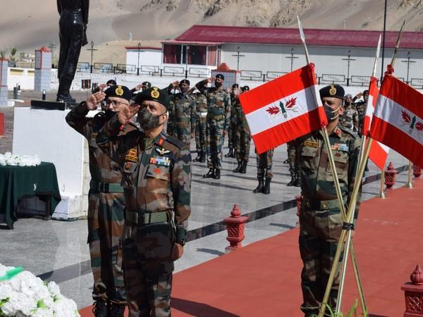 Fire and Fury Corps paid homage to soldiers killed in Galwan valley on first anniversary of the violent faceoff with Chinese troops, in Srinagar on Tuesday.