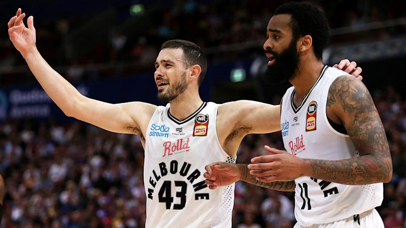 Melbourne United star Chris Goulding was unimpressed with the whistle his team got in their semi-final decider against Sydney. (Photo by Jason McCawley/Getty Images)
