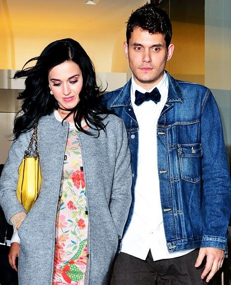 John Mayer Helps Katy Perry Celebrate Her 28th Birthday at L.A. Costume Party