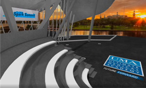 Spark Summit guests kicked off the conference from a virtual amphitheater which allowed them to enjoy some of the beautiful sites downtown Tampa has to offer.