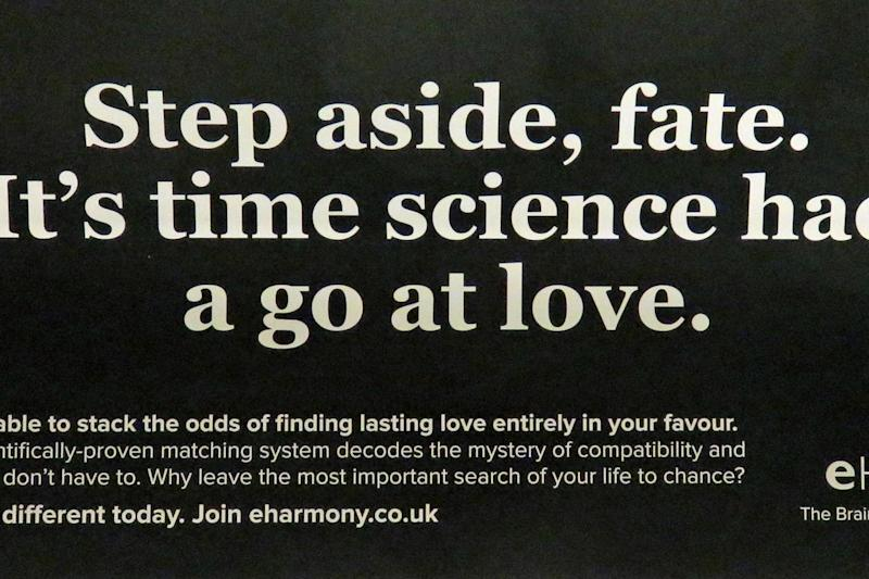 Banned: the advert was seen on the London Underground network: PA
