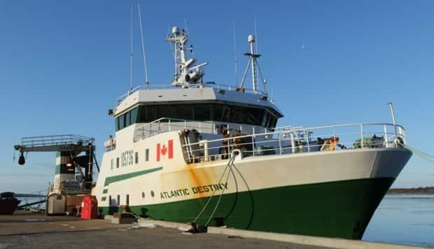 Thirty-one people were on board the Atlantic Destiny, a factory freezer trawler based in Riverport, N.S. It is part of the fleet owned by Ocean Choice International of Newfoundland and Labrador.