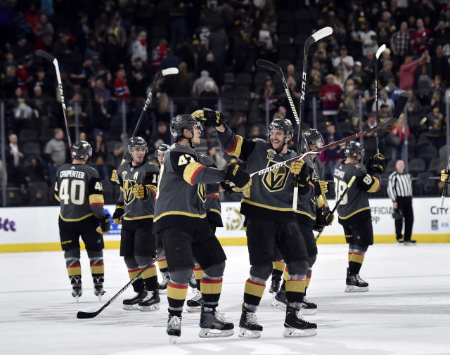T-Mobile arena, where the party never stops for the NHL's No. 1 team. (AP Photo/David Becker)