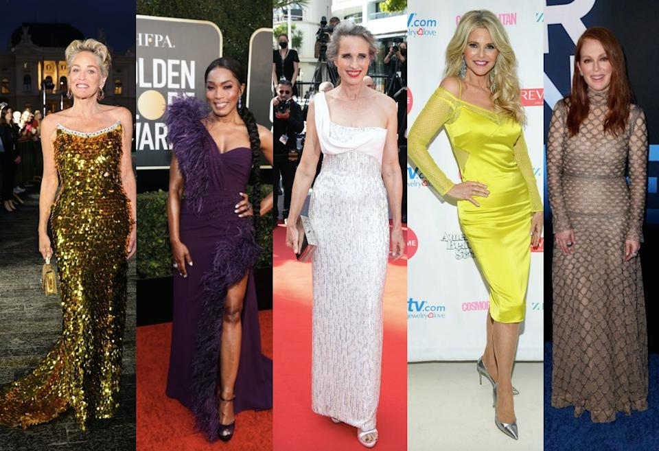 Meet the 60-something celebrities totally rocking their style on the red carpet. (Getty Images)
