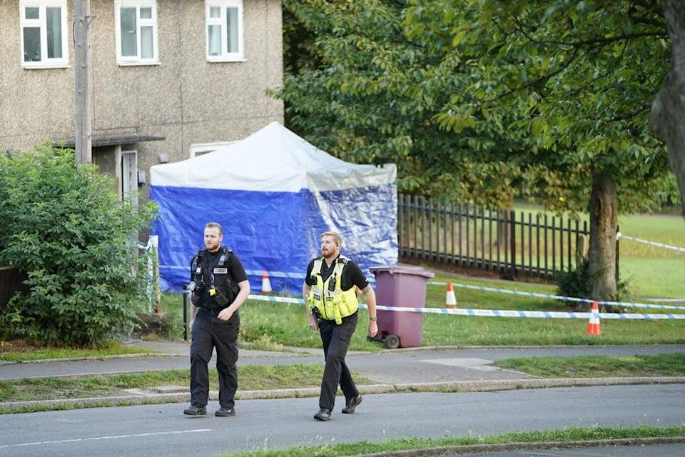 Emergency services at the scene in Chandos Crescent in Killamarsh, near Sheffield (Danny Lawson/PA) (PA Wire)