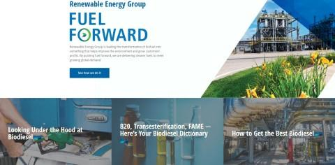 Renewable Energy Group Launches New Website That Serves as Leading Resource on Cleaner Fuels