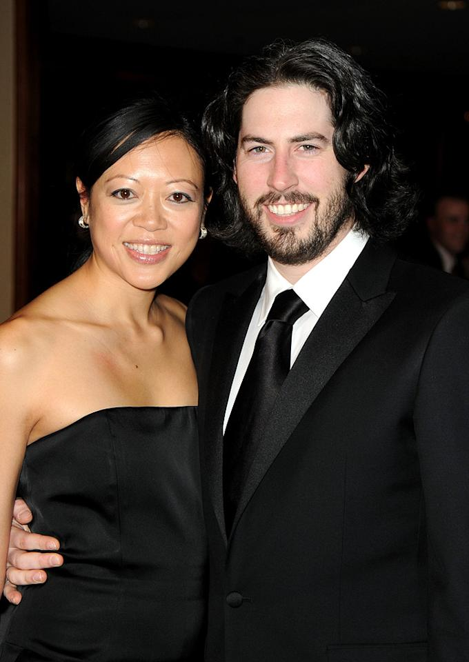 """<a href=""""http://movies.yahoo.com/movie/contributor/1804141701"""">Jason Reitman</a> and wife at the 62nd Annual Directors Guild of America Awards in Century City, California on January 30, 2010."""