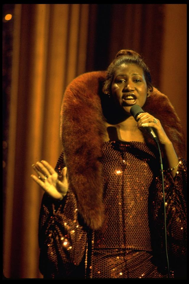 <p>Aretha Franklin rehearsing for Inaugural Eve program for newly elected US President Jimmy Carter in 1977. (Getty) </p>