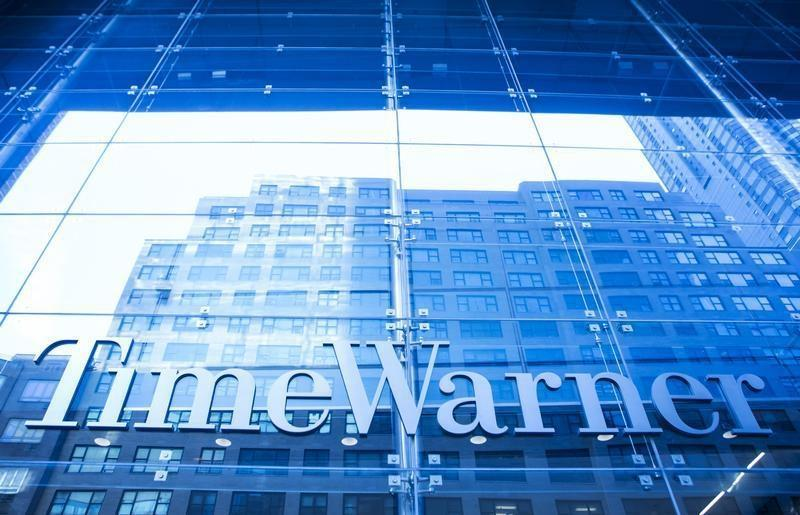 The Time Warner building in New York