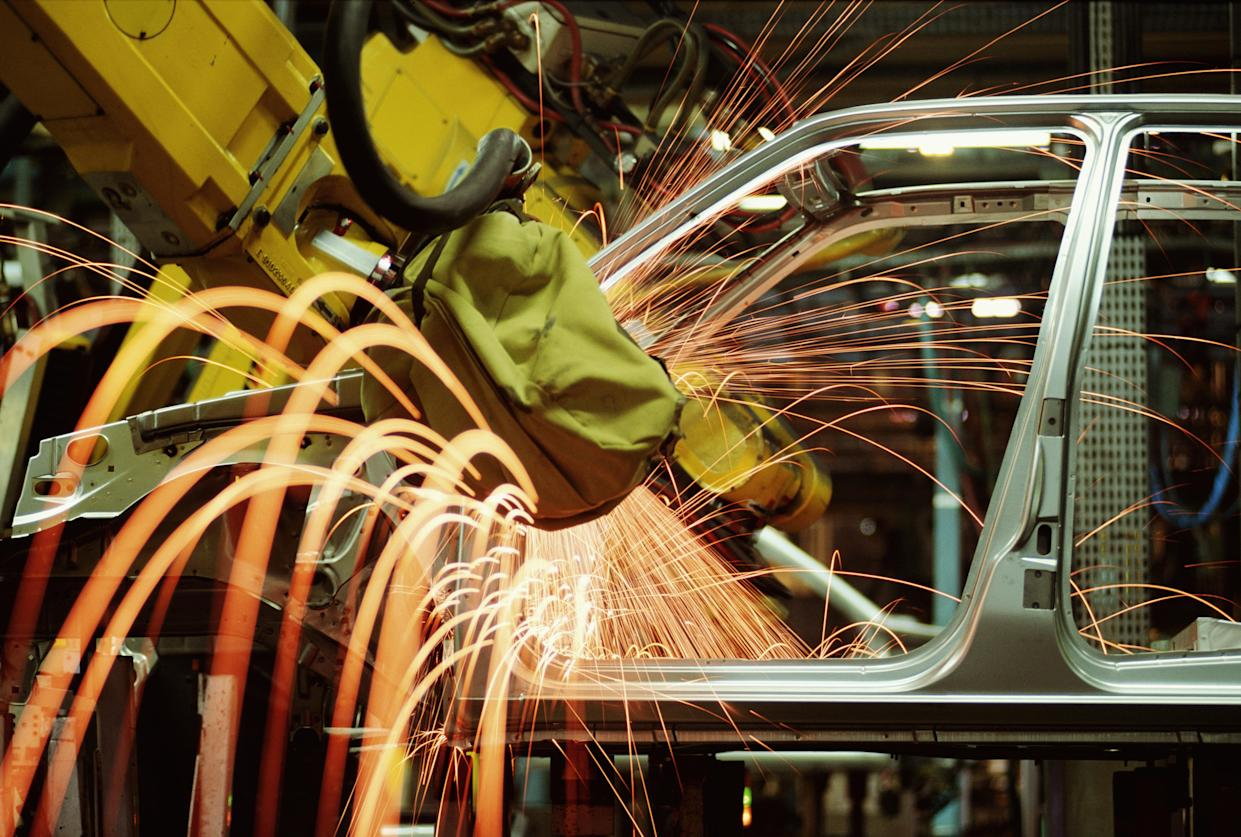 The UK made 68,306 cars in April. Photo: Getty Images