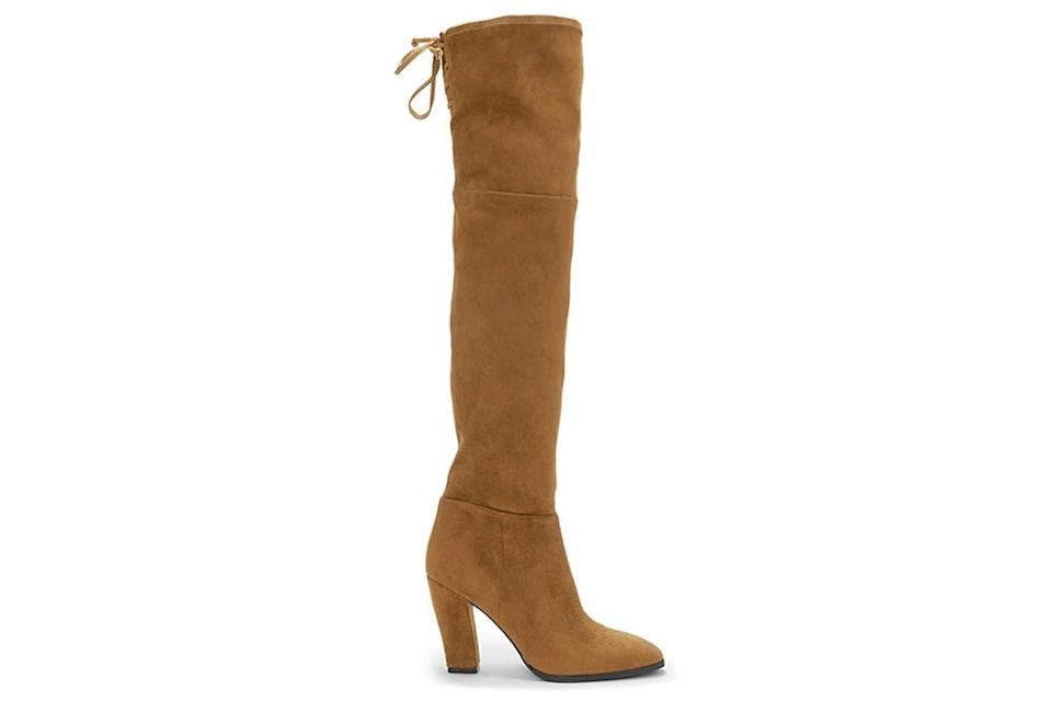 over the knee boots, suede, tan, vince camuto