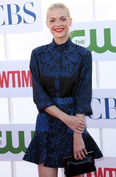 """<div class=""""caption-credit""""> Photo by: Frederick M. Brown/Getty Images</div><b>Jamie King in Stella McCartney</b> <br> How pretty are these navy and blue printed separates? We love how the actress complimented the look with red lipstick. <br>"""