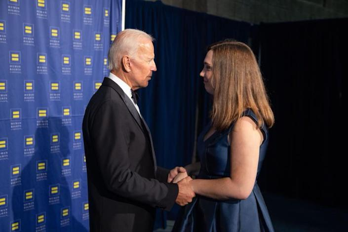 "<div class=""inline-image__caption""><p>Sarah McBride with Joe Biden.</p></div> <div class=""inline-image__credit"">Courtesy Sarah McBride via Facebook</div>"