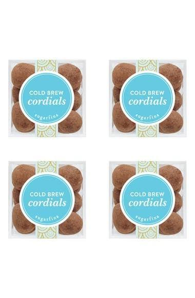 <p>If she has a sweet tooth, get her the yummy <span>Sugarfina Cold Brew Cordials Set of 4 Candy Cubes</span> ($32).</p>