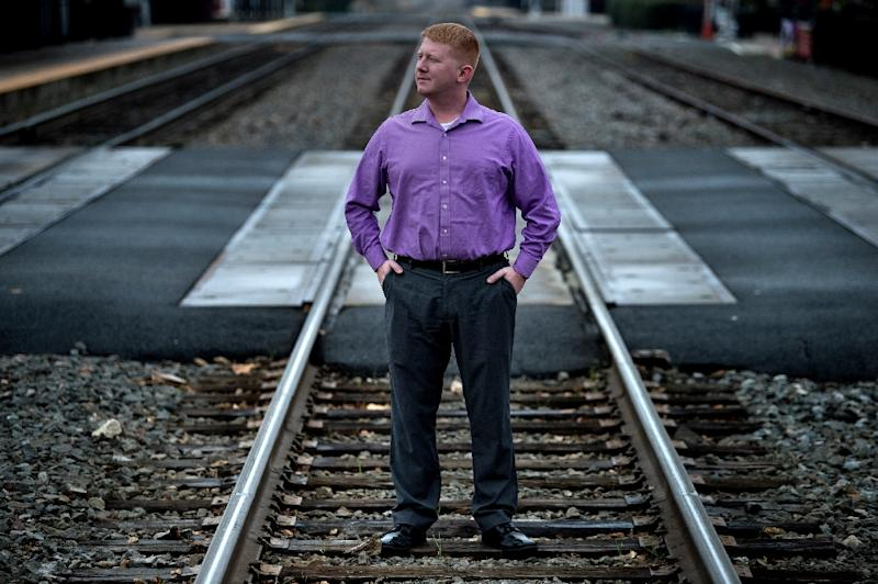 Lee Carter, who this week won a seat in the Virginia House of Delegates, is part of a growing cadre of young politicians pledging their allegiance to the Democratic Socialists of America (AFP Photo/Brendan Smialowski)