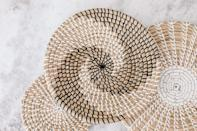 <p>From your walls to your desk, you can use these <span>Handmade Hanging Wall Basket Decor</span> ($55, originally $60 for three) all over your home office. Use these as stylish wall art or as catch all bowls on your desk. </p>