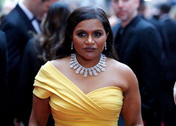 PHOTO: Mindy Kaling arrives at the Oscars, Feb. 9, 2020, in Hollywood, Calif. (John Locher/AP)