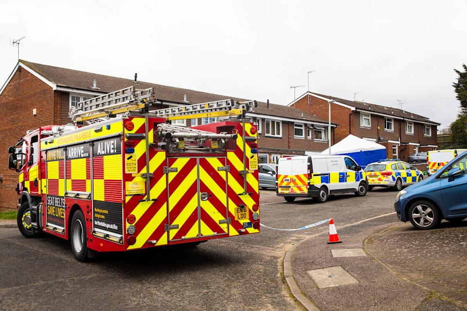 A fire engine at the scene in March last year. (Paul Davey/SWNS)