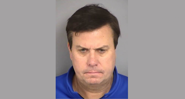 Las Vegas sportscaster Randy Howe was charged with masturbating at a slot machine in a bar. (North Las Vegas PD)