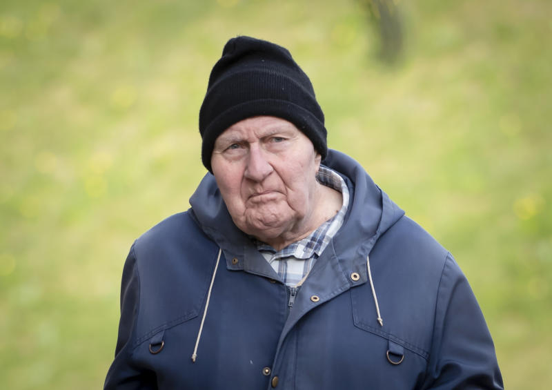 Former monk Peter Turner, 80, arriving at York Crown Court, where he entered guilty pleas to 14 charges of sexually abusing three children aged under 13. The offences occurred more than 20 years ago while he was working at Ampleforth College, in North Yorkshire, and a parish in Workington, Cumbria.