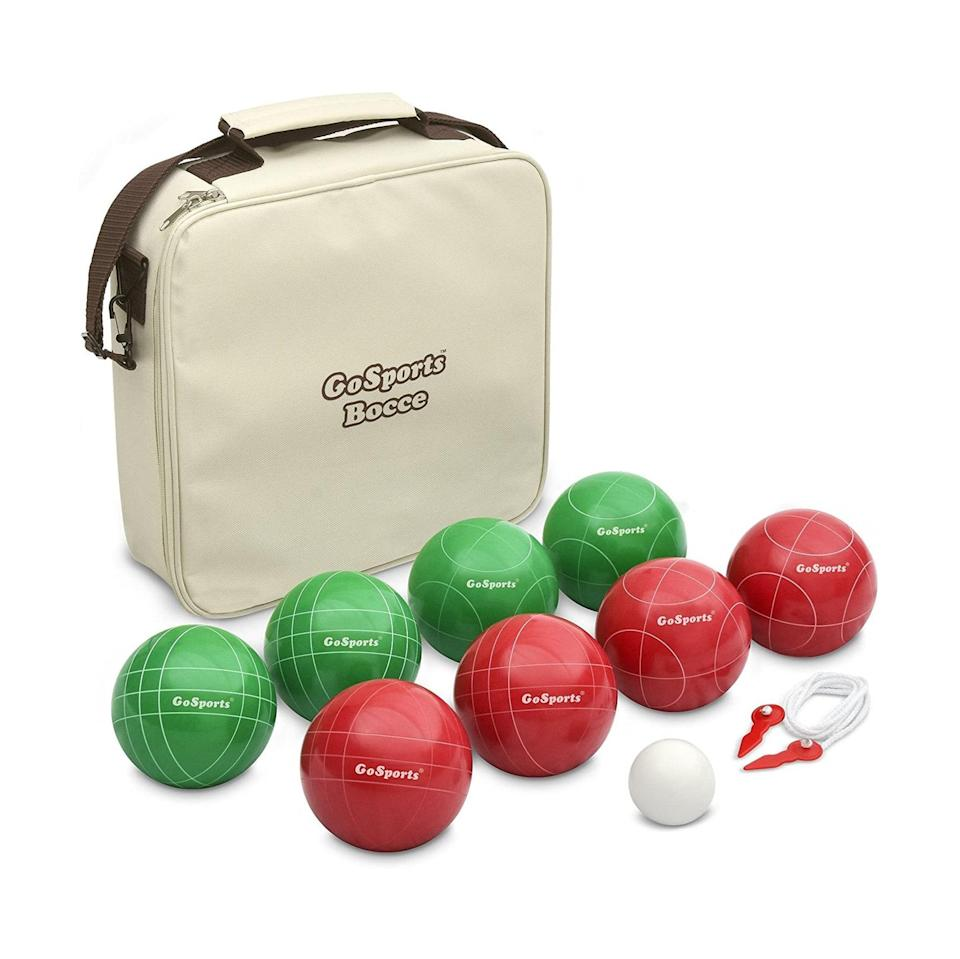 """These vintage-looking bocce balls could pass for a coveted flea market find, if that's their thing. $53, Amazon. <a href=""""https://www.amazon.com/GoSports-100mm-Regulation-Pallino-Measuring/dp/B00T0GY98Y/ref=sr_1_11?"""" rel=""""nofollow noopener"""" target=""""_blank"""" data-ylk=""""slk:Get it now!"""" class=""""link rapid-noclick-resp"""">Get it now!</a>"""