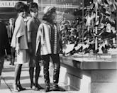 <p>Out shopping on Oxford Street in London, the Supremes look every bit the part of mod-dressed pop stars. <br></p>