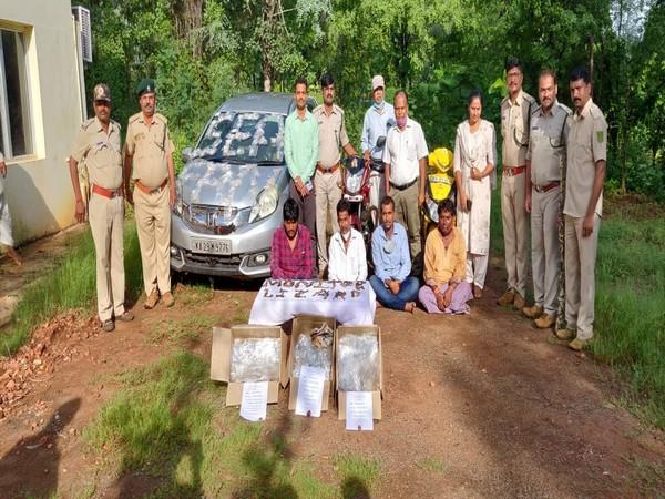 Four people were arrested for possessing parts of Bengal lizard and sea fans in Karnataka.