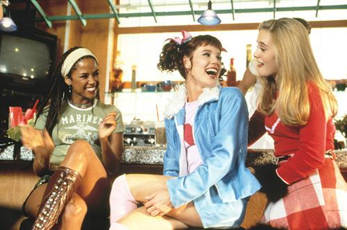 Castmates Stacey Dash, Elisa Donovan, and Alicia Silverstone in the 1995 high-school comedy.
