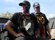 FILE PHOTO: Proud Boys attend a rally in Portland