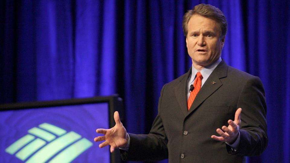 Photo by Chuck Burton/AP/REX/ShutterstockBrian Moynihan Newly named Bank of America CEO Brian Moynihan speaks after being introduced to the bank's employees in Charlotte, N.