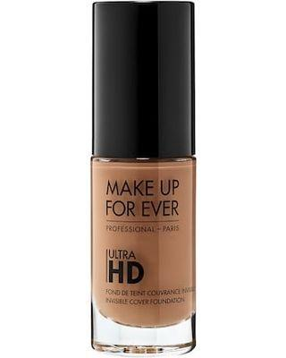 "<p>This buildable foundation is <a href=""https://www.refinery29.com/en-us/2018/11/217822/the-new-romantic-movie-sugar-baby-makeup"" rel=""nofollow noopener"" target=""_blank"" data-ylk=""slk:used in film"" class=""link rapid-noclick-resp"">used in film</a> to give complexions glow without covering up freckles, which explains why some of its 43 shades are already selling out fast.</p> <br> <br> <strong>Make Up For Ever</strong> Ultra HD Invisible Cover Foundation, $19, available at <a href=""https://www.sephora.com/product/ultra-hd-invisible-cover-foundation-P398321#locklink"" rel=""nofollow noopener"" target=""_blank"" data-ylk=""slk:Sephora"" class=""link rapid-noclick-resp"">Sephora</a>"