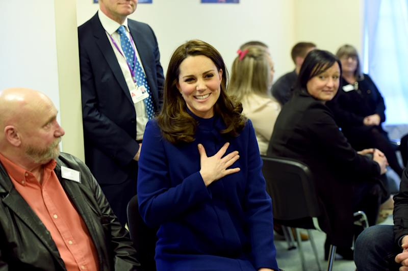 WICKFORD, ENGLAND - FEBRUARY 07: Catherine, Duchess of Cambridge opens an Action on Addiction Community Treatment Centre on February 7, 2018 in Wickford, United Kingdom. The Duchess will join a round-table discussion with healthcare professionals, meet staff and clients at different points of their recovery, and attend a reception to commemorate the opening. ( Photo by Eddie Mulholland - Pool/Getty Images)