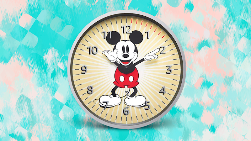 Save 20 percent on Amazon's Mickey Mouse edition Echo Wall Clock! (Photo: Amazon)