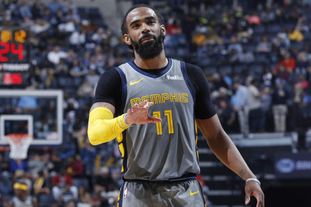 "The <a class=""link rapid-noclick-resp"" href=""/nba/teams/memphis/"" data-ylk=""slk:Memphis Grizzlies"">Memphis Grizzlies</a> traded Mike Conley Jr to the Utah Jazz the day before the NBA draft. (Photo by Joe Robbins/Getty Images)"